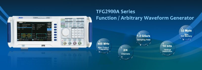 New Launch--TFG2900A Series Function/Arbitrary Waveform Generator